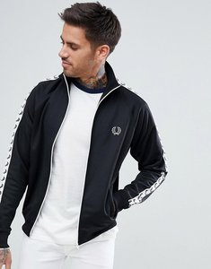 Read more about Fred perry sports authentic taped track jacket in black - 102