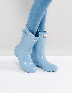 Read more about Hunter original pale blue gloss short wellington boots - pale blue