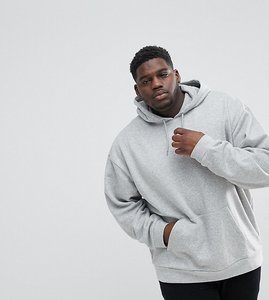 Read more about Asos plus oversized hoodie in grey marl - grey marl