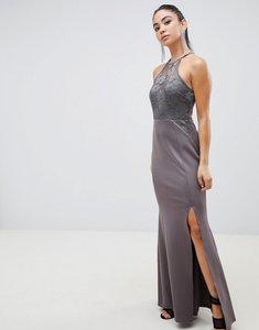 Read more about Ax paris racer neck maxi dress with lace detail