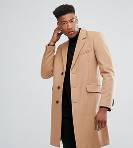 Read more about Asos tall wool mix overcoat in camel - camel