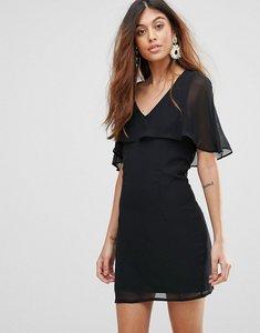 Read more about Rage chiffon overlay dress - black
