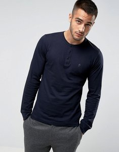 Read more about French connection long sleeve henley - navy