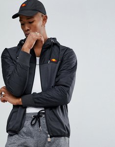 Read more about Ellesse poly tricot jacket with quilted hood - black