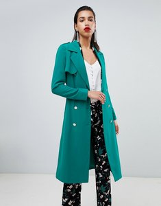 Read more about Morgan belted duster coat - green