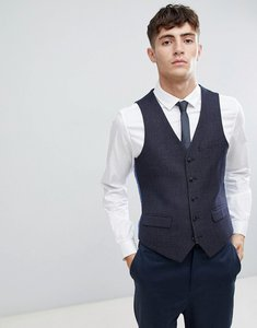 Read more about Harry brown skinny fit geo blue suit waistcoat - blue