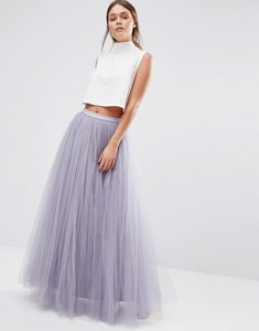 Read more about Little mistress maxi tulle prom skirt - dusky lilac