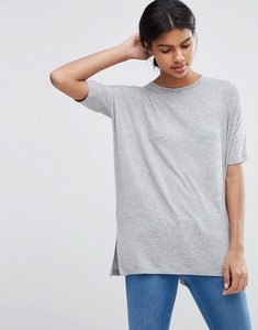 Read more about Asos oversized drapey t-shirt - light grey