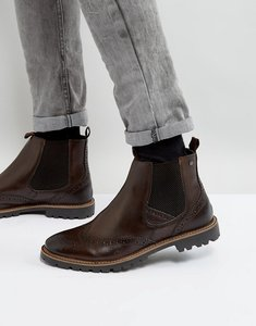 Read more about Base london bosworth leather brogue chelsea boots in brown - brown