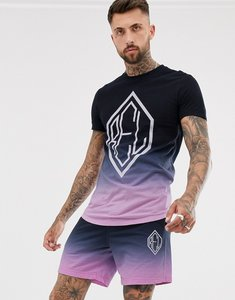 Read more about Religion co-ord curved hem t-shirt with logo in fade pink