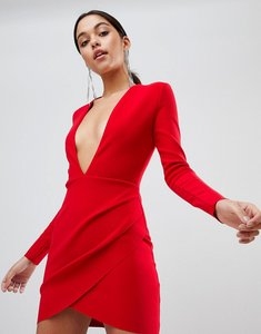 Read more about Bec bridge long sleeve bodycon mini dress - red