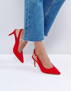 Read more about New look red slingback low heel shoe - red