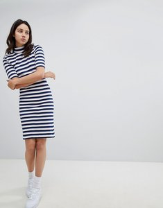 Read more about Mads norgaard skinny rib dress in organic cotton - 2306 blue multi