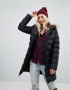 Read more about Brave soul mid padded coat - black