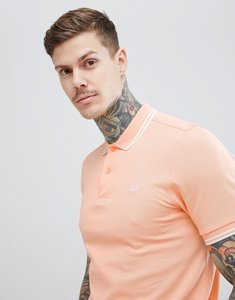 Read more about Fred perry riviera twin tipped polo shirt in peach - f75