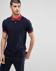 Read more about Ps paul smith contrast collar polo in navy - 25