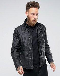 Read more about Barbour international slim fit inlet wax jacket in black - blk gun