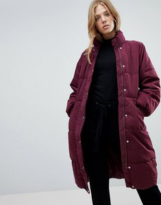 Read more about Vila longline padded jacket - fig