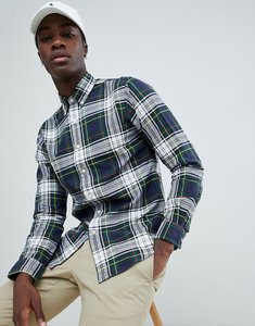 Read more about Polo ralph lauren slim fit tartan check oxford shirt player logo button down in green red - woodland