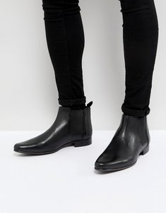 Read more about Asos chelsea boots in leather - black