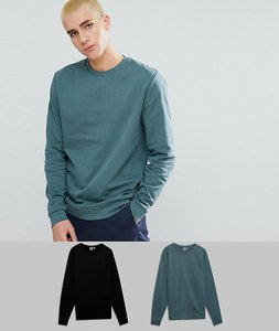 Read more about Asos sweatshirt 2 pack black green save - black otto