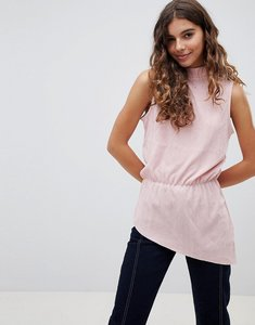 Read more about B young high neck asymmetric blouse - rose pearl