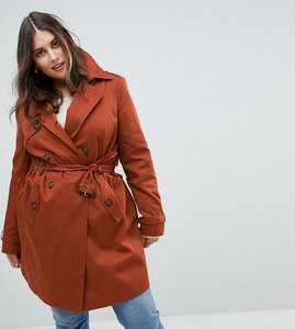 Read more about Asos design curve classic trench coat - rust
