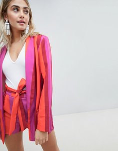 Read more about Missguided bold stripe blazer - pink stripe