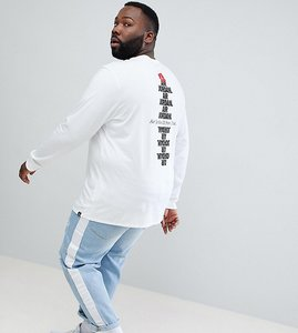 Read more about Nike jordan plus aj3 long sleeve top with back print in white 943938-100 - white