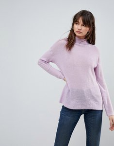 Read more about Asos jumper with high neck in mohair blend - lilac
