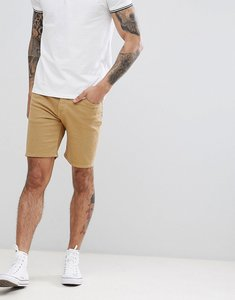 Read more about Asos design denim shorts in skinny stone - stone