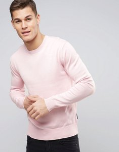 Read more about French connection lightweight crew neck jumper - pink
