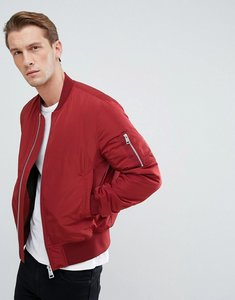 Read more about Asos bomber jacket with ma1 pocket in red - red