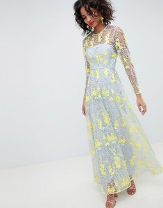 Read more about Asos edition embroidered maxi dress - multi
