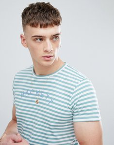Read more about Hackett mr classic stripe t-shirt in green - 6ak