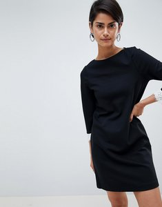 Read more about French connection lula slash neck shift dress - black