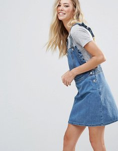Read more about Chorus frill side denim dugaree dress - worn indigo