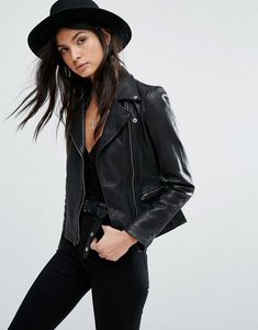 Read more about Current air leather biker jacket - black