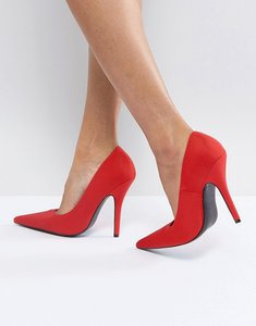 Read more about Glamorous red pointed court shoes - red