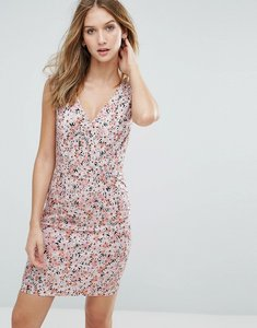 Read more about French connection bacongo daisy printed fitted dress - fizi pink multi