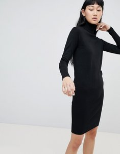 Read more about B young roll neck jumper dress - black