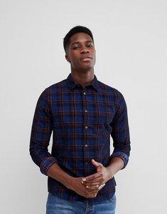 Read more about Burton menswear slim check shirt - navy