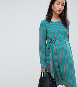 Read more about Mamalicious stripe woven dress - multi
