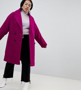 Read more about Asos design curve double breasted coat in texture