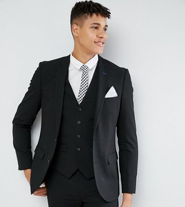 Read more about Harry brown tall plain stretch slim suit jacket - black