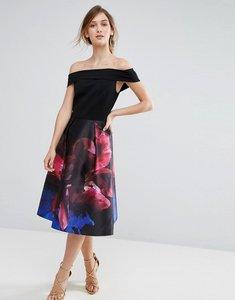 Read more about Ted baker impressionist bardot dress - black
