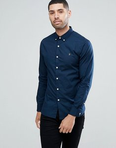 Read more about Farah libbert slim fit poplin weave shirt in navy - 412 true navy