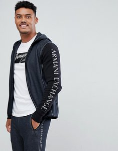 Read more about Armani exchange side logo hoodie sweat in black - 3201