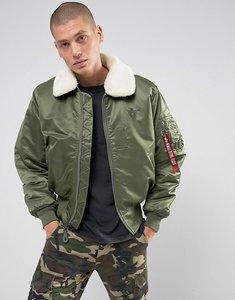 637319e40 alpha industries bomber jacket with faux fur collar - Shop alpha ...