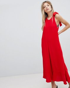 Read more about French connection crepe wide leg bow jumpsuit - blazer red